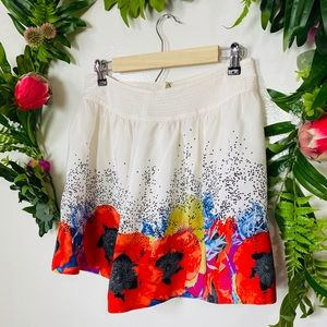 Anthropologie cute mini floral skirt size 6